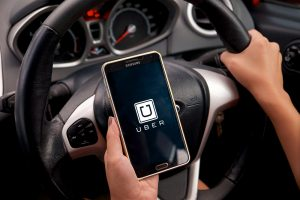Driving with Uber App